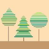 Illustration av tre träd Vektor Illustrationer
