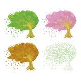 Illustration av treen Royaltyfria Foton