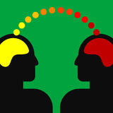 Illustration av två mänskliga huvud Royaltyfria Bilder