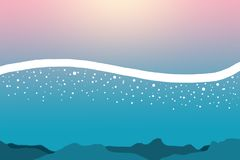 Illustration av undersea och vattenvågor och bubblor vektor illustrationer