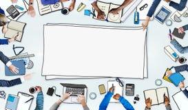 Illustration av upptaget möte för affärsfolk vektor illustrationer