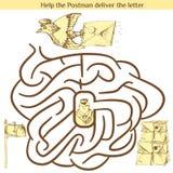 Illustration av utbildningslabyrint för förskole- barn Royaltyfria Bilder