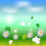 Illustration av våren - sommarbakgrund Arkivfoton