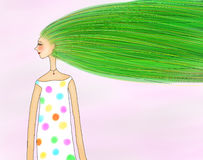 Illustration av vårflickan stock illustrationer
