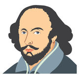 Illustration av William Shakespeare Royaltyfria Foton