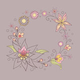 Illustration avec des fleurs Photos stock