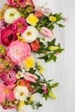 Illustration avec des fleurs Photographie stock libre de droits