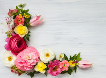 Illustration avec des fleurs Photos libres de droits