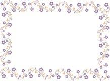 Illustration avec des fleurs Photo libre de droits