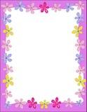 Illustration avec des fleurs Photo stock