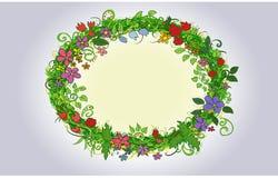 Illustration avec des fleurs Images libres de droits