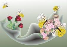 Illustration avec des guindineaux Photos libres de droits