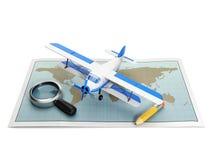 Illustration avec l'avion Photo stock
