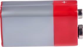 Illustration avec la batterie rectangulaire grise et rouge Photographie stock libre de droits