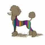 Illustration avec le chien de caniche Image libre de droits