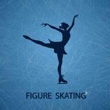 Illustration avec le patineur artistique Image stock