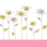 Illustration avec les fleurs simples. illustration de vecteur