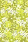 Illustration avec les fleurs vertes. Photographie stock