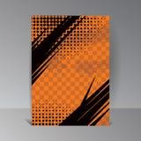 Illustration avec les points tramés Fond et texture grunges oranges Vecteur illustration de vecteur