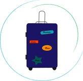 Illustration avec un sac de voyage Photos libres de droits