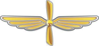 Aviation emblem Royalty Free Stock Photo