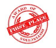 Award of distinction stamp Stock Image
