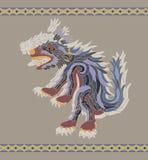 Illustration aztèque traditionnelle de coyote illustration de vecteur