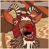 Illustration bêlante de chèvre Image libre de droits
