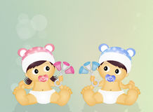 Illustration of babies Stock Images