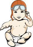 Illustration of a baby adventurer aviator Stock Images