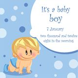 Vector illustration of baby boy Royalty Free Stock Photos