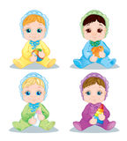 Illustration baby. Character Baby toys Stock Photo