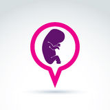 Illustration of a baby embryo. Chat on a pregnancy theme. Pregna Stock Image