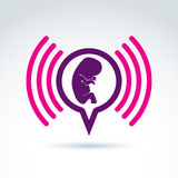 Illustration of a baby embryo. Pregnancy theme. Stock Image