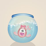 Baby fish female in the bowl. Illustration of baby fish female in the bowl Royalty Free Stock Photos