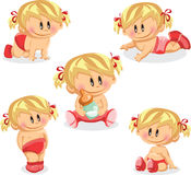 Illustration of baby girl, vector background Stock Photography