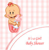 Illustration of baby girl,vector  Royalty Free Stock Images