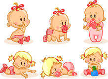 illustration of baby girls,vector Stock Photography