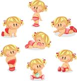 Illustration of baby girls,vector Stock Image