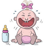 Illustration of baby laughing Stock Images