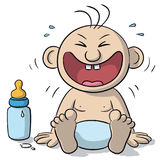 Illustration of baby laughing Royalty Free Stock Images
