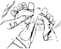 Illustration of baby massage Stock Photo
