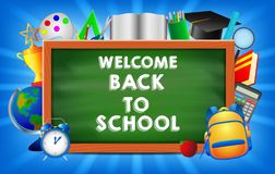 Back to school background stock illustration
