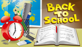 Illustration. Back to school. Stock Photo