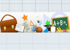 Back to School Icons. Illustration Of Back to School Icons Set Royalty Free Stock Photo