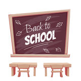 Illustration of Back to school poster. Classroom Royalty Free Stock Images
