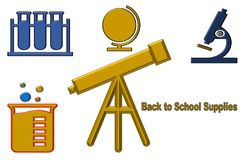 Beautiful illustration of Back to school supplies royalty free illustration