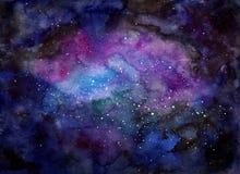 Illustration backgound Zusammenfassung des Galaxieoffenen raumes vektor abbildung