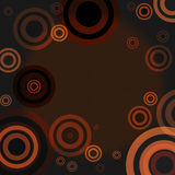 Illustration, background. A background and illustration with circles Royalty Free Stock Photography