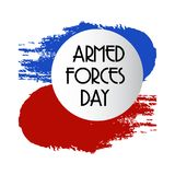 Armed forces day. Illustration of a Background for Armed forces day Stock Images